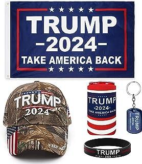 Genericf Trump 2024 支持者套件   特朗普 2024 旗帜   特朗普 2024 帽子   特朗普国旗   特朗普帽