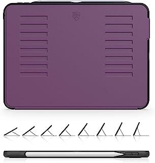 The Muse Case - 2018 iPad Pro 11 英寸 * 1 代(旧型号) - 非常保护但轻薄 + 方便的磁性支架 + */唤醒盖 - ZUGU 保护套 - 紫色 - (适合型号 # A1934、A1979、A1980、A2013)