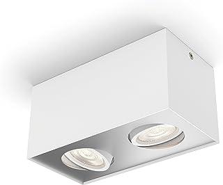 Philips 飞利浦 myLiving 聚光盒,暖光,调光效果 白色 10.19 x 20.2 x 10 cm 5049231P0