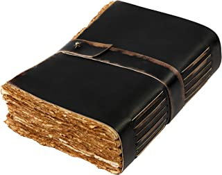 Art Supplies-Art Teacher Gifts,女士、女孩、男孩艺术礼物,诗歌书写艺术日志,女士男士可口大版皮革日记本,素描本-29.21 厘米 X 20.32 厘米 288 复古甲板纸 B5 Red Brown Color