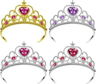 Dress Up Princess 服装派对配饰假装万圣节服装装扮游戏套装公主女孩派对礼品, 4 件