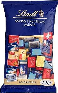 Lindt 瑞士莲 Lindor 那不勒斯超浓牛奶巧克力,159块, 1袋装 (1 x 1公斤)