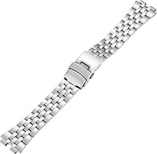 Kreisler SM22006 22mm Tech 智能表带不锈钢银色手表手链