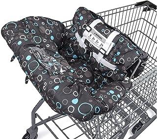高级购物车罩和高脚椅套,安装方便,*带系统,柔软舒适缓冲,通用尺寸(黑色)