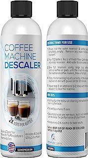 (4 瓶 - 2 瓶装)液体除垢液,适用于Keurig、Nespresso、Ninja、Delonghi 和所有一次性或滴式咖啡机和浓缩咖啡机 - FreshFlow 在美国制造的除垢剂