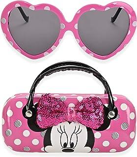 Minnie Mouse 儿童太阳镜女童幼儿太阳镜带儿童眼镜盒, 粉红色, 小号