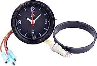 汽车仪表板时钟/汽车时钟 - 模拟 12V 汽车时钟带 LED 背光套装 - 圆形石英汽车时钟适用于经典、复古、赛车或肌肉汽车 - 复古汽车配件