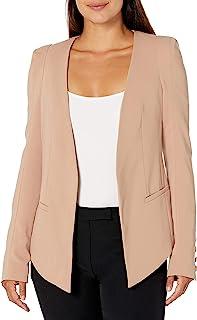James Jeans 女士 V 运动夹克,桃红色,裸色