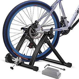 ZSW 自行车训练器支架适用于室内骑行固定自行车支架自行车阻力训练器健身磁性支架适合 24-29 英寸 700c 车轮