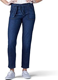 LEE 女式标准剪裁直筒实用九分裤