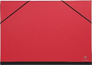 Clairefontaine 绘图文件夹 Maya 带松紧带搭扣 实用结实 52 x 72 厘米 1 件 37 x 52cm 红色