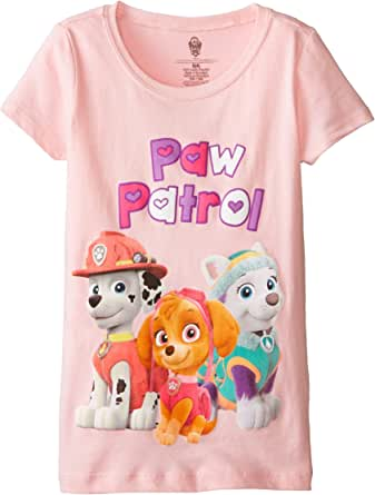 Paw Patrol Little Girls' Nickelodeon Trio Pic Short Sleeve Tee