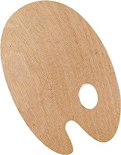 Kreul Solo Goya 木质调色板山毛榉木三层胶水表面涂漆通用油漆和丙烯酸涂漆 5mm 厚椭圆形约 20 x 30厘米,彩色,均码