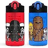 Zak Designs 尤达宝贝 达斯维达瓶 儿童耐用塑料喷嘴盖,内置携带环,防漏水设计,旅行装,(16 盎司(约 47…