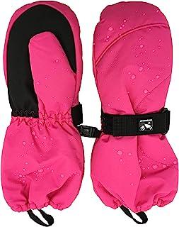 儿童男孩女孩防水滑雪手套冬季温暖寒冷天气手套长袖口