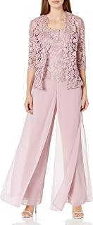 Emma STREET 女式蕾丝外套 camisold 和雪纺裤子套装