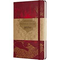 Moleskine 哈利·波特限量版笔记本,带掠夺者地图主题图形和细节的横格笔记本,精装封皮,大尺寸13 x 21厘米…