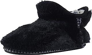 Dearfoams 中性儿童 Charlotte Furry 短靴拖鞋