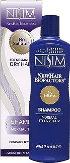NISIM NewHair BioFactors 洗发水 适合中性至干性* - 深层清洁洗发水,可控制过多*(8 盎司/240 毫升)