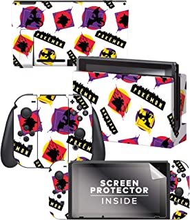 Controller Gear 正品和*任天堂 Switch Skin & 屏幕保护膜套装 Neon Set 2 Q - Neon Set 2