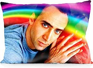 DoubleUSA Nicolas Cage 枕套双面印花拉链枕套 50.8 厘米 x 76.2 厘米