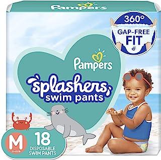 Pampers Splashers 游泳尿布,M 码,18 片