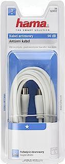 Hama 航空电缆男女同轴电缆(3M,90 分贝白色