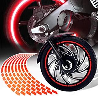 ExtremePowersports 40.64cm-45.72cm 反光边缘带/轮缘装饰贴花图案条纹贴纸红色通用 16 条纹