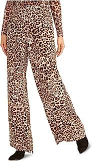 Rachel Roy 女式棕色拉链动物印花裤子 尺码 12