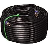 100 英尺(约 30.5 米)气象密封四屏蔽户外 3GHZ RG-6 同轴电缆 75 欧姆(卫星电视或宽带互联网)防腐…