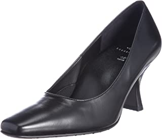 [华歌尔 萨克森水手] 方头 浅口鞋 鞋跟7cm 脚围C~3E 山羊革 WFN070
