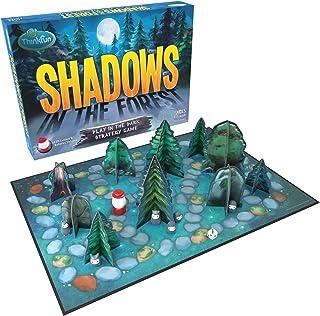 ThinkFun 森林中的阴影 在黑暗中玩耍 棋盘游戏 适合 8 岁及以上的儿童和家庭 - 通过创新独特的游戏玩法,乐趣和轻松学习