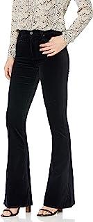 AG Adriano Goldschmied 女士 Quinne 高腰喇叭腿天鹅绒长裤