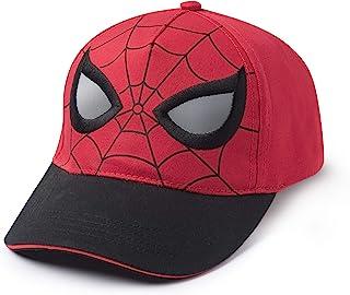 Marvel 漫威蜘蛛侠面具脸眼棒球帽,男孩2-5岁,红色,黑色