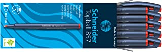 Schneider 滚珠 Topball 857,带坚固的金属尖,0.6 毫米 红色