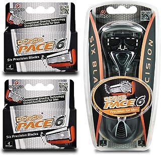 Dorco Pace 6- 六刀片剃刀系统 - 超值装 10 Pack + 1 Handle