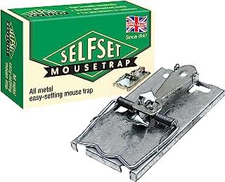 自动捕鼠器(经典设计,防锈弹簧,镀锌金属啮齿动物捕鼠器适用于室内和室外) One Size 白色 TVS160