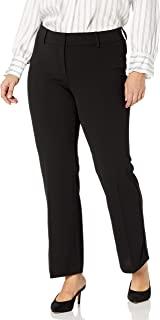 Rafaella 女式加大码柔软弹性绉纱现代修身长裤