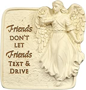 Angelstar 2-1/2-Inch Tall Drive Safely Visor Clip, Friends Don't Let Friends