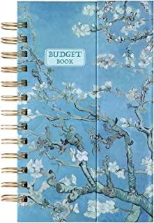 预算规划本 - 12 个月财务管理器,支出跟踪器,5.35 英寸 x 7.65 英寸月度预算簿,每月有口袋,无日期财务规划和账簿,随时开始,磁性精装