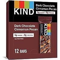 KIND 能量棒 黑巧克力肉桂山核桃,无麸质,低糖,1.4盎司/约40克,12支