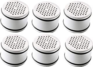 Culligan WTR FiltrationCartridge 认证 WHR-140 替换滤芯过滤淋浴头,白色,6 只装