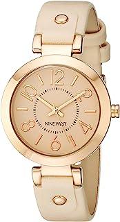 女式玫瑰金表壳腮红粉色表带手表