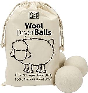 STS 559701 新西兰羊毛烘干机球-XL-天然白色,6件装