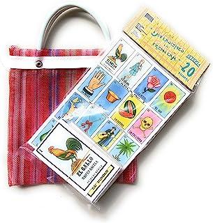 Naipes Gacela Loteria 墨西哥家庭套装 20 张板和卡片 附赠迷你手提袋 Loteria Mexicana con 20 个diferentes Tablas y UNA Bolsa juguetera de Nylon d...
