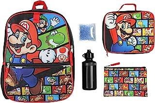 Nintendo 任天堂 Super Mario 5 件套人物16 英寸背包组合套装 多种颜色 均码