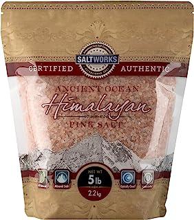 SaltWorks 古海洋喜马拉雅粉红盐,中号,5磅/袋,2.2千克