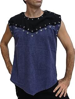 Svenine 套装文艺复兴时期金属扣眼衬衫 锋利胸部核心衬衫 带肩