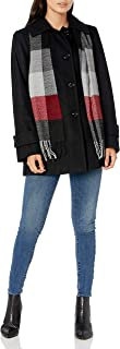 LONDON FOG 女式单排扣围巾羊毛大衣