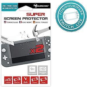 Subsonic - 2 件钢化玻璃屏幕保护膜,适用于 Nintendo Switch Lite 系统